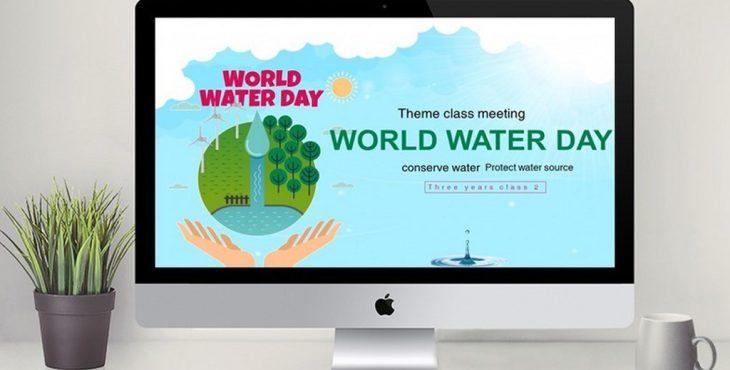 قالب پاورپوینت با موضوع حفاظت از آب