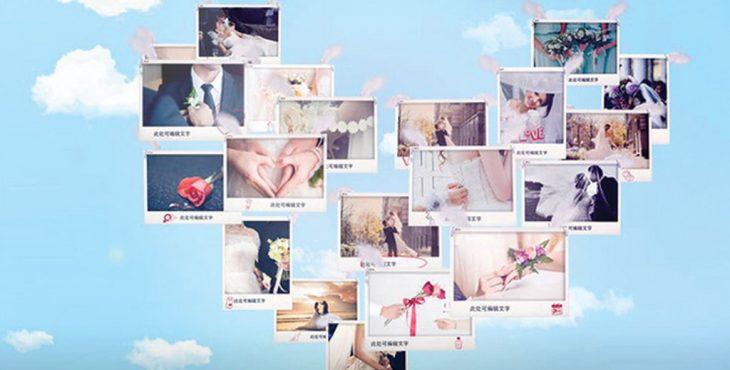 پروژه افترافکت برای نمایش عکس عروسی