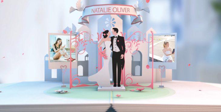 پروژه افترافکت برای ساخت آلوم سه بعدی عکس عروسی