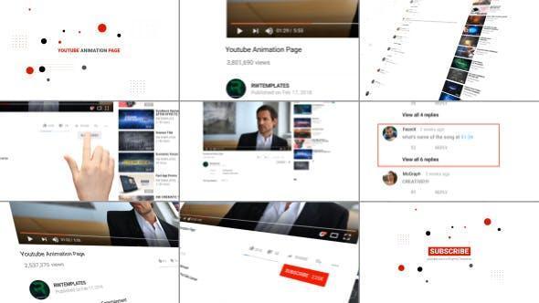 پروژه افترافکت برای تبلیغات ویدئوها یو تیوب