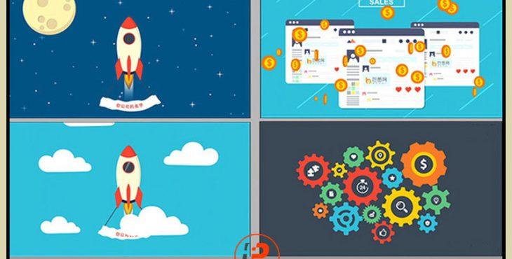 موشن گرافیک آماده برای تبلیغ بازاریابی شبکه ای