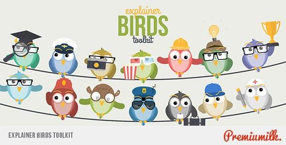 پک ساخت موشن گرافیک با استفاده از پرندگان سخنگو