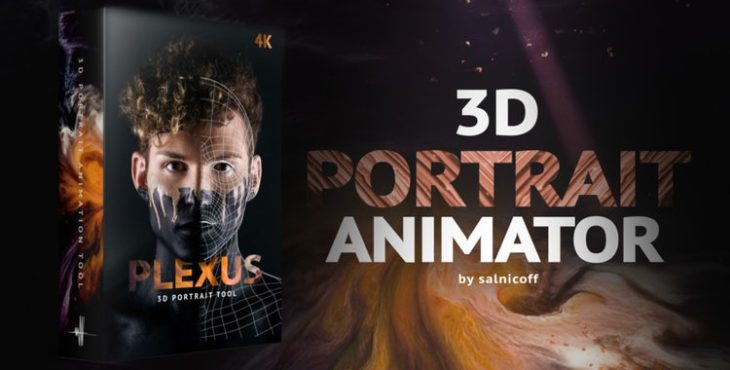 پروژه افترافکت برای حرکت سه بعدی صورت روی عکس