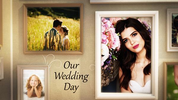 دانلود پروژه آماده افترافکت گالری عکس عروسی