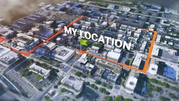 دانلود پروژه آماده افترافکت کیت ساخت نقشه سه بعدی گوگل