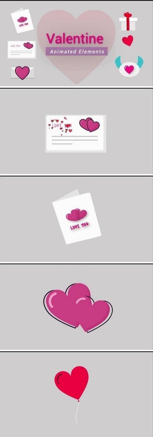 المان های موشن گرافیک برای روز ولنتاین