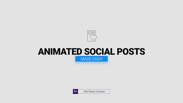 دانلود پروژه آماده افترافکت معرفی شبکه های اجتماعی