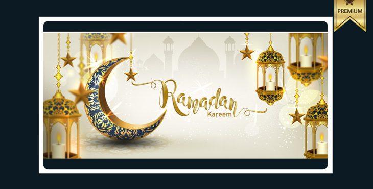 وکتور لایه باز بنر با موضوع ماه رمضان