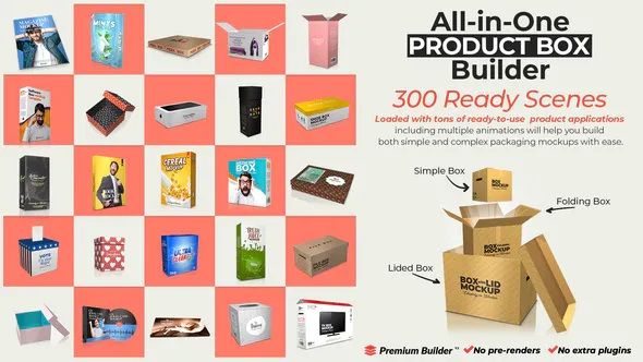 پروژه آماده افترافکت ساخت جعبه محصولات