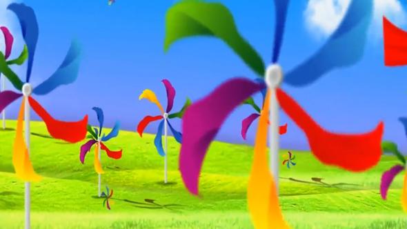 فوتیج ویدئویی کارتونی کودکانه