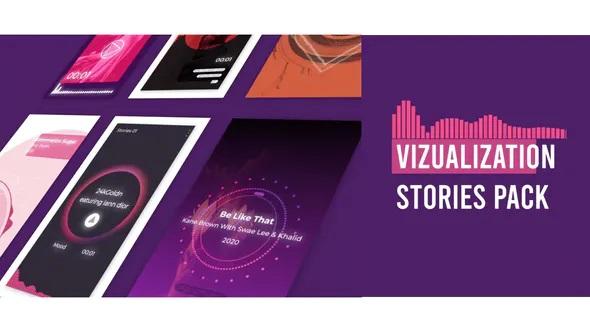 پروژه آماده افترافکت موزیک ویژوالایزر استوری اینستاگرام