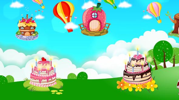 دانلود فوتیج کارتونی جشن تولد