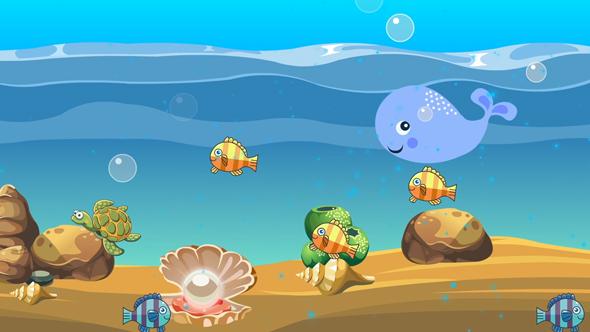 فوتیج کارتونی دریا