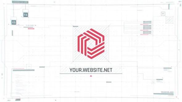 پروژه آماده افترافکت لوگو موشن با موضوع طراح ui