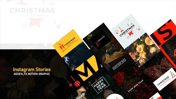دانلود پروژه افترافکت استوری اینستاگرام کریسمس