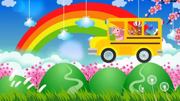 دانلود فوتیج کودکانه اتوبوس مدرسه