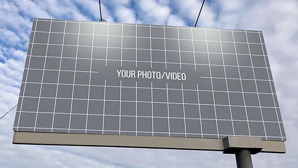 موکاپ بیلبورد تبلیغاتی افترافکت