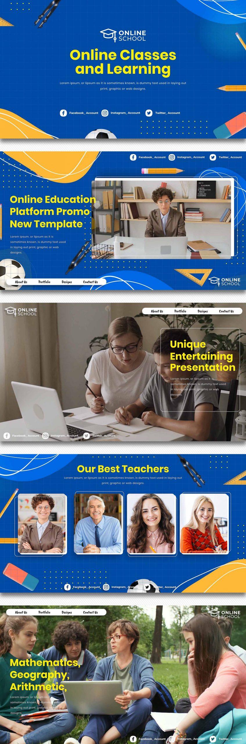 پروژه افترافکت کلاس مجازی