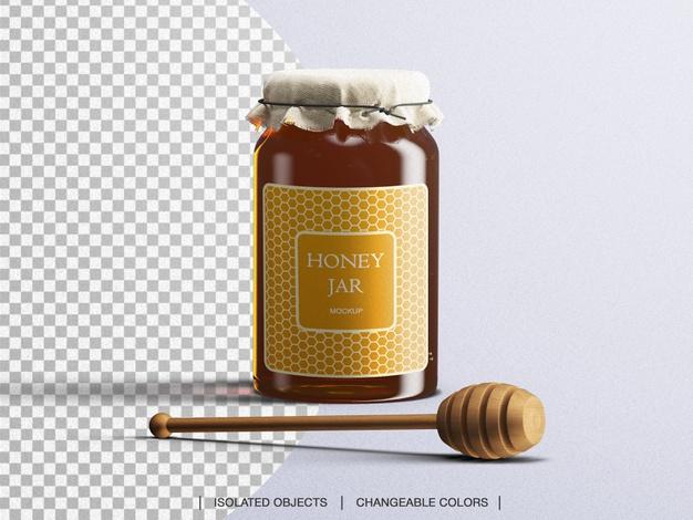 موکاپ فتوشاپ شیشه عسل